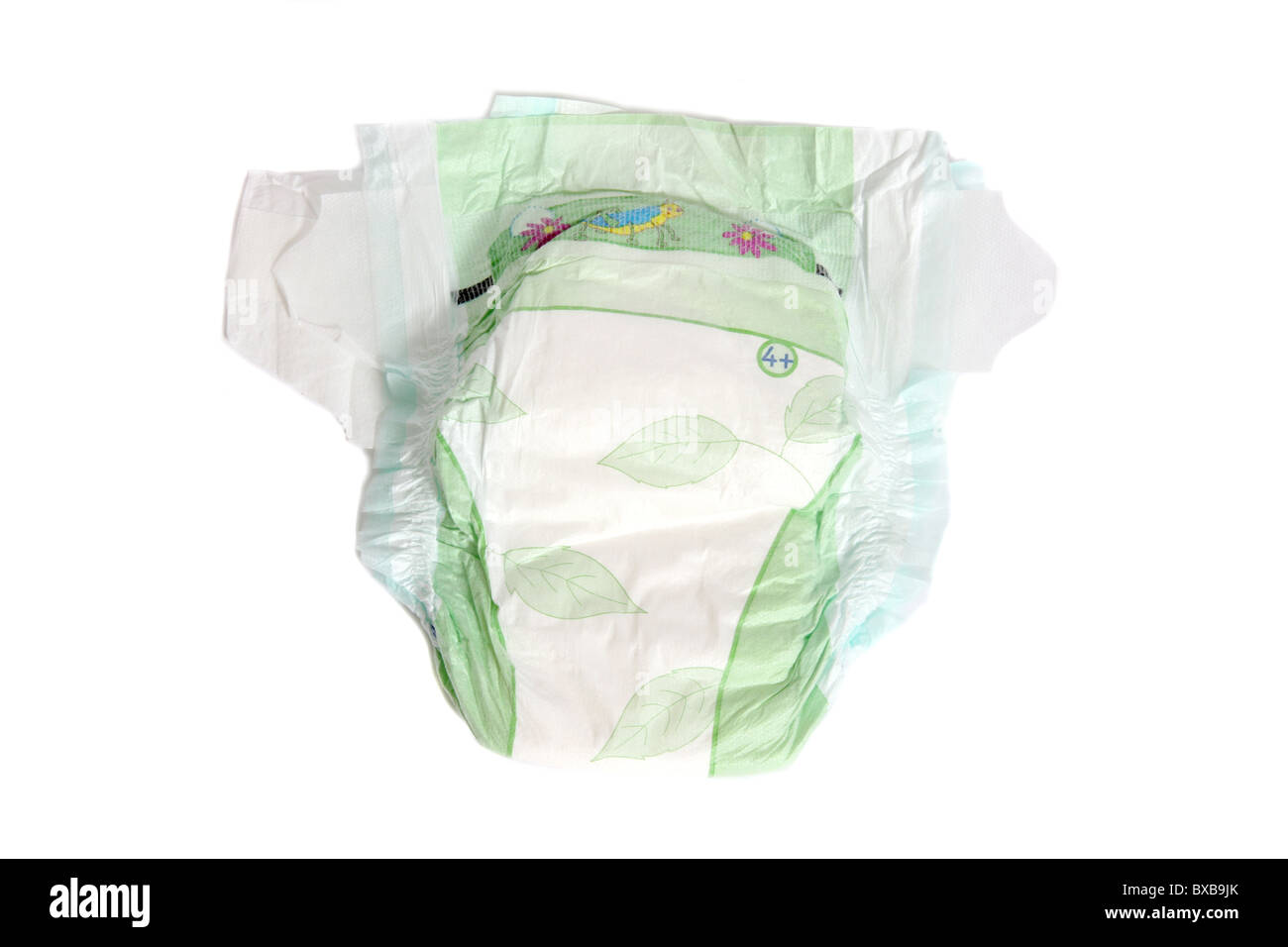 An unused disposable nappy. - Stock Image