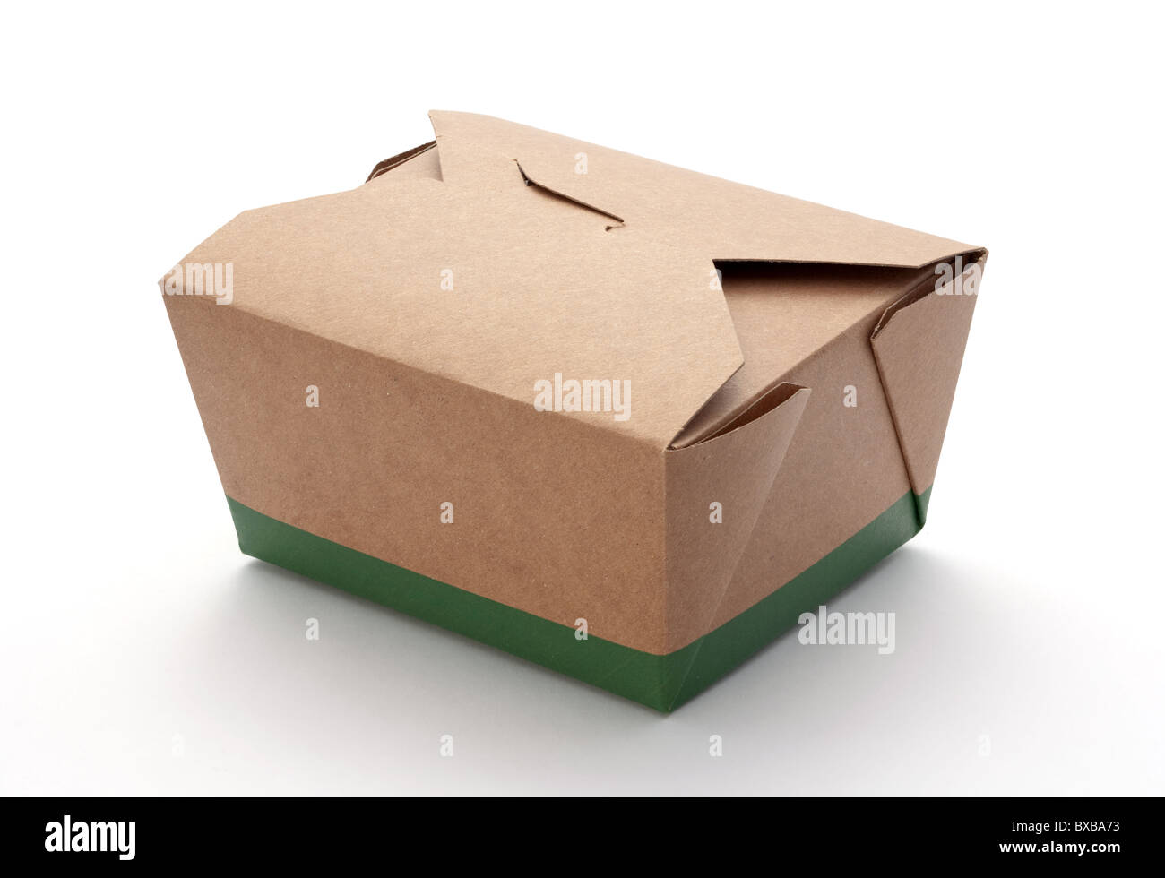 Take-Out Box isolated on a white background - Stock Image