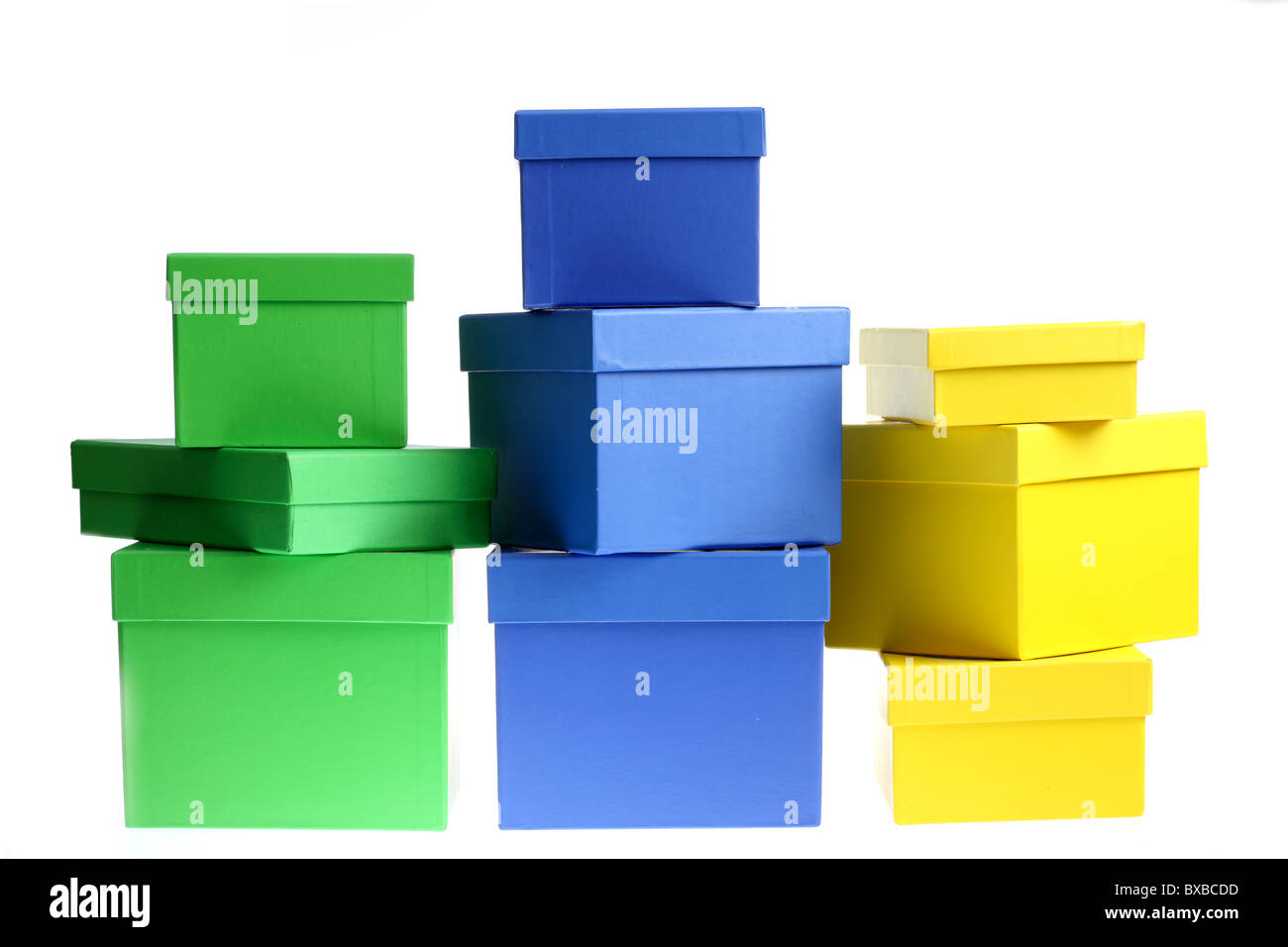 Cardboard boxes, for gifts, presents, valuables, archiving, storage of nice things. - Stock Image
