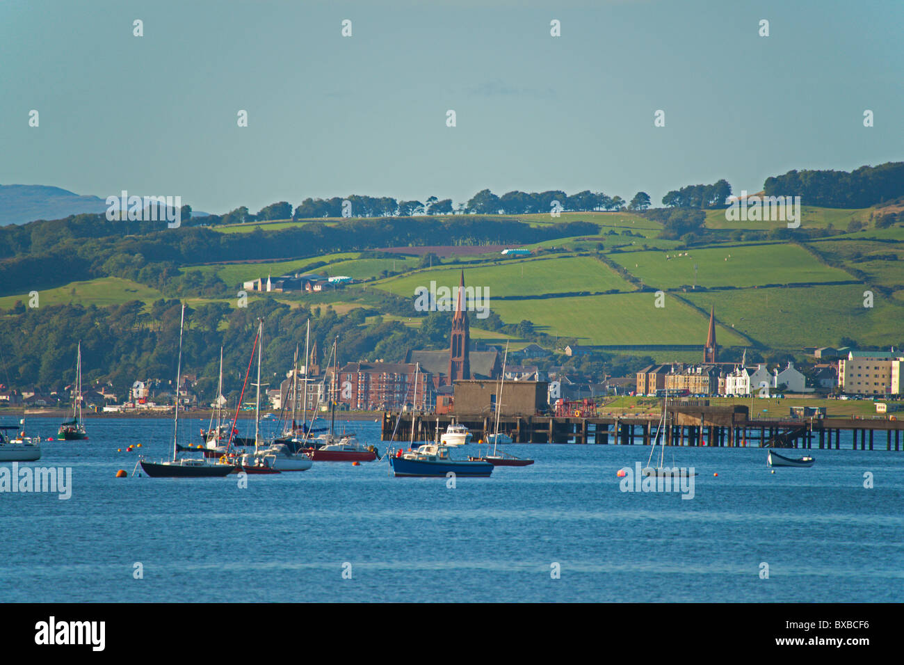 Largs, sea view, Ayrshire, Strathclyde, Scotland, August 2010 - Stock Image