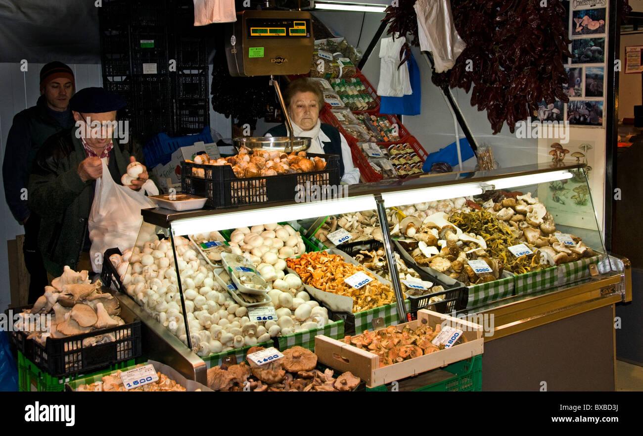 Bilbao Market Mercado de la Rivera Spain Spanish Basque Country - Stock Image