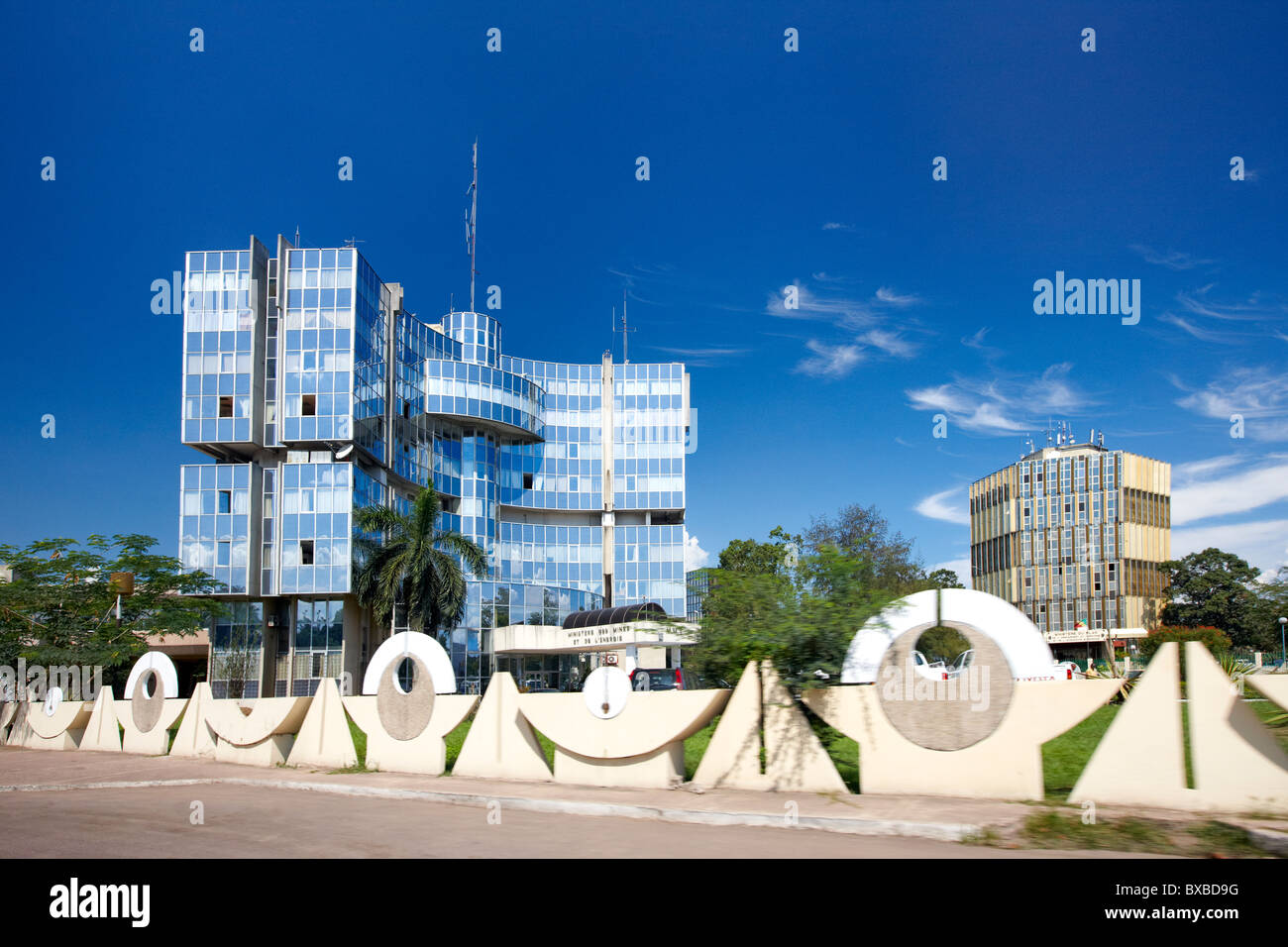 Ministry of Mines and Energy (Ministere des Mines et de L'Energie), Brazzaville, Republic of Congo, Africa - Stock Image