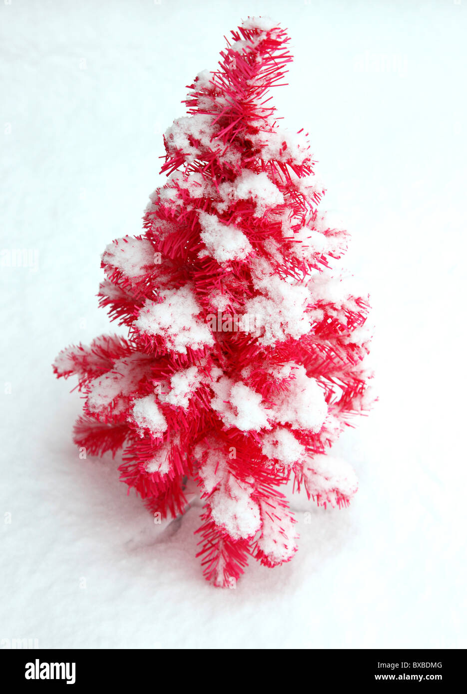 Pink Alternative Christmas Tree Artificial Plastic Design Stock Photo Alamy