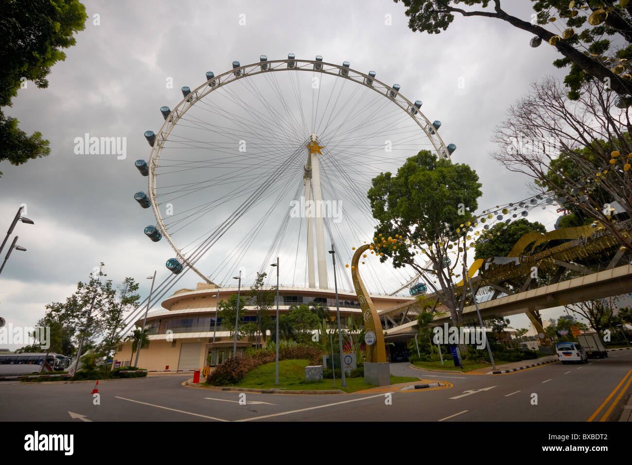 Singapore flyer, Singapore, Asia - Stock Image