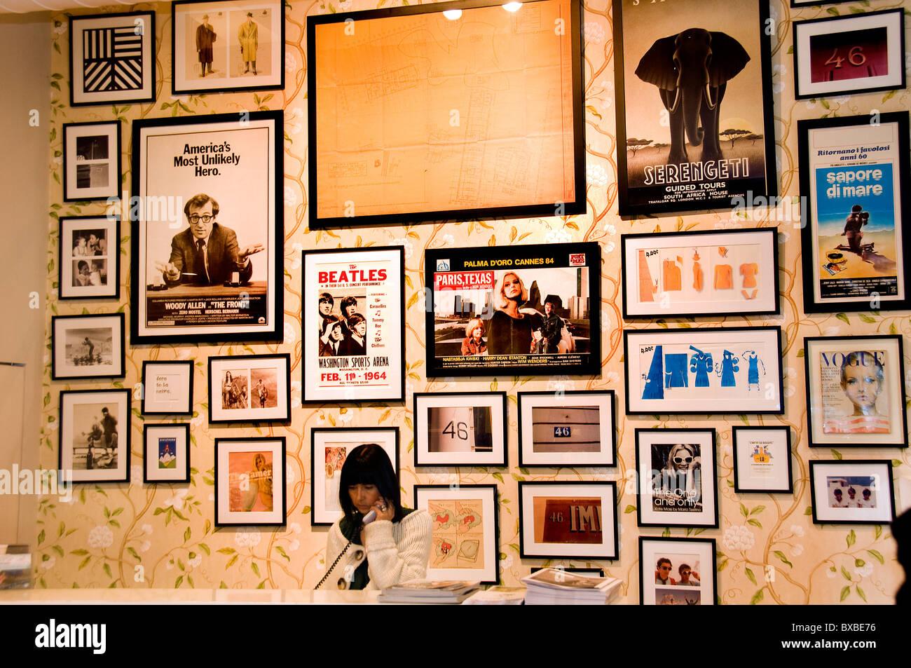 Bilbao Spain Spanish Woody Allen acting drama comedy music  Beatles - Stock Image
