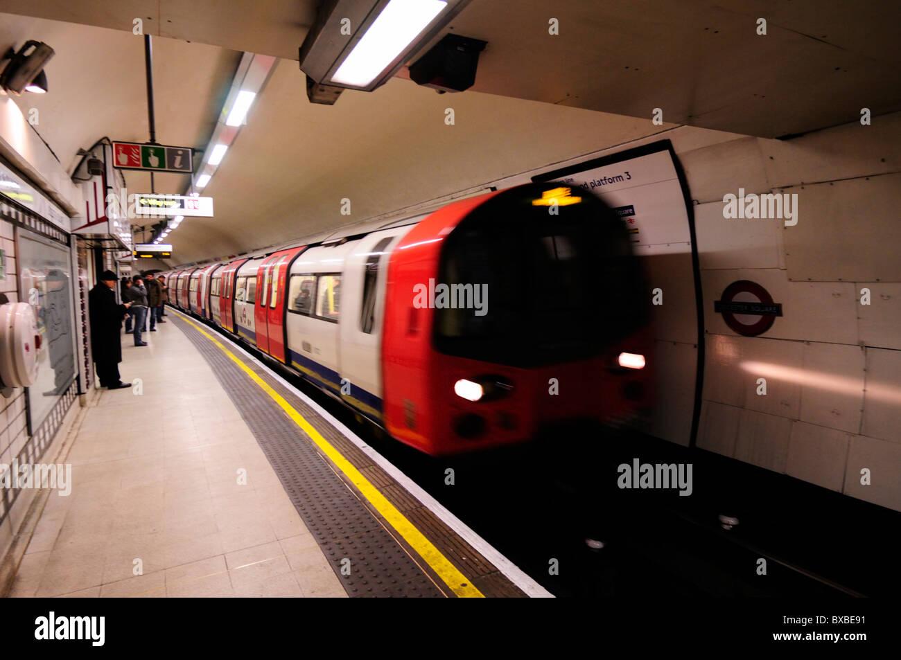 Leicester Square Underground Tube Station Northern Line Platform, London, England, UK - Stock Image