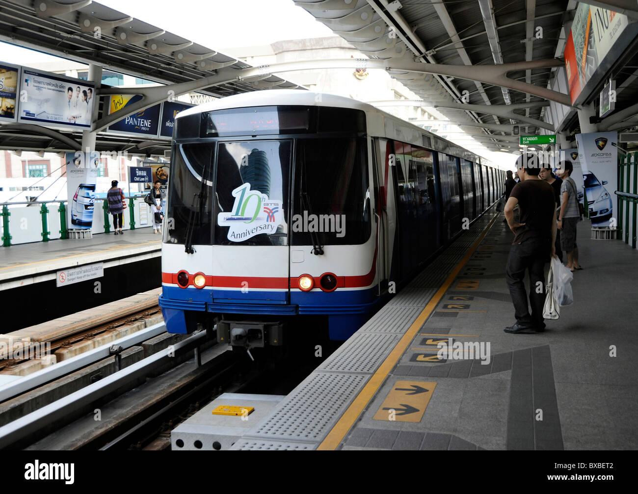 bts metro train  bangkok  thailand  asia stock photo