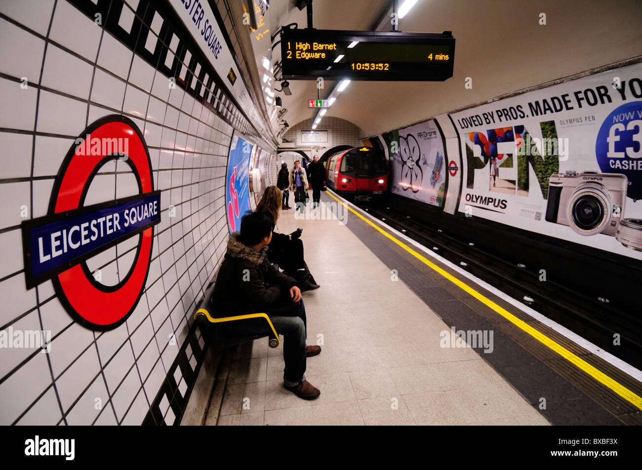 Leicester Square Underground Tube Station, London, England, UK - Stock Image