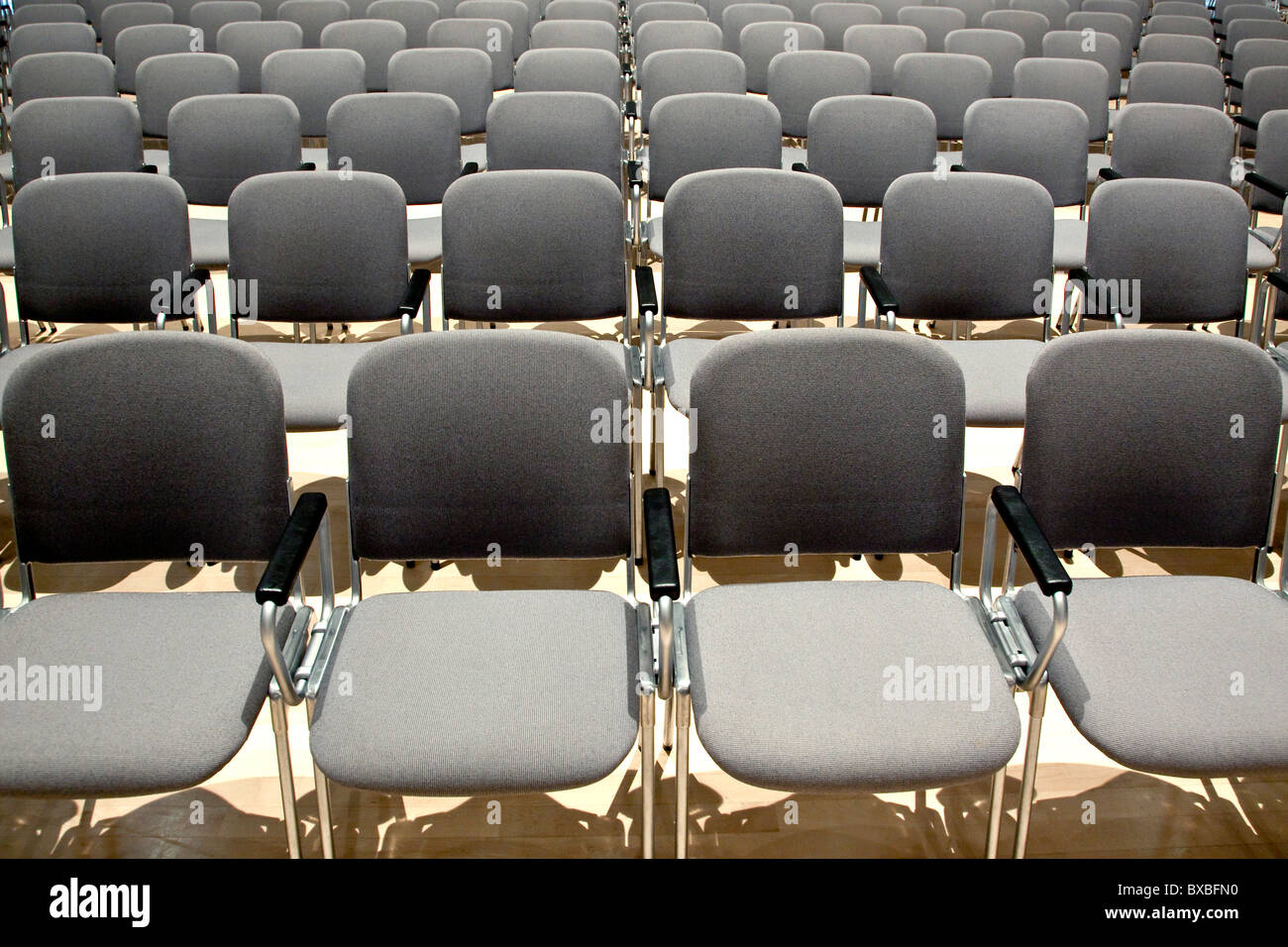 Rows of chairs - Stock Image