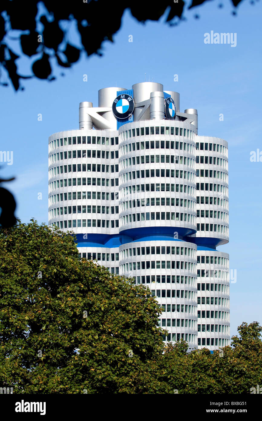 Headquarters of the BMW AG in Munich, Bavaria, Germany, Europe Stock Photo