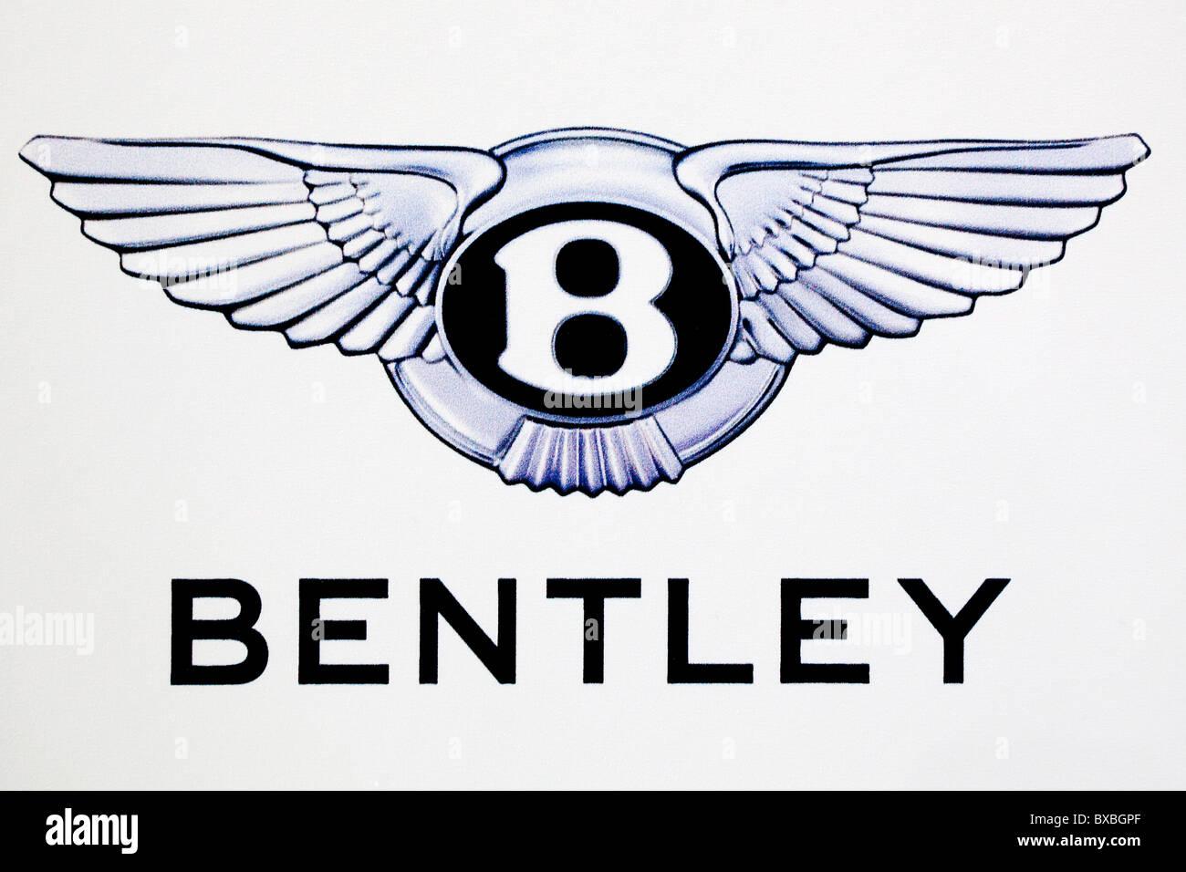 Logo of the Bentley car brand - Stock Image