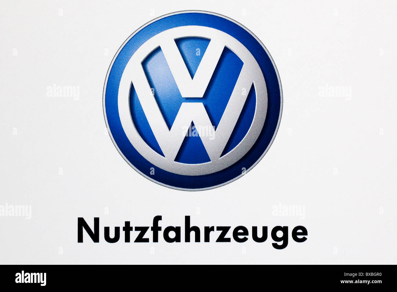 Logo of the Volkswagen Nutzfahrzeuge car brand for commercial vehicles Stock Photo