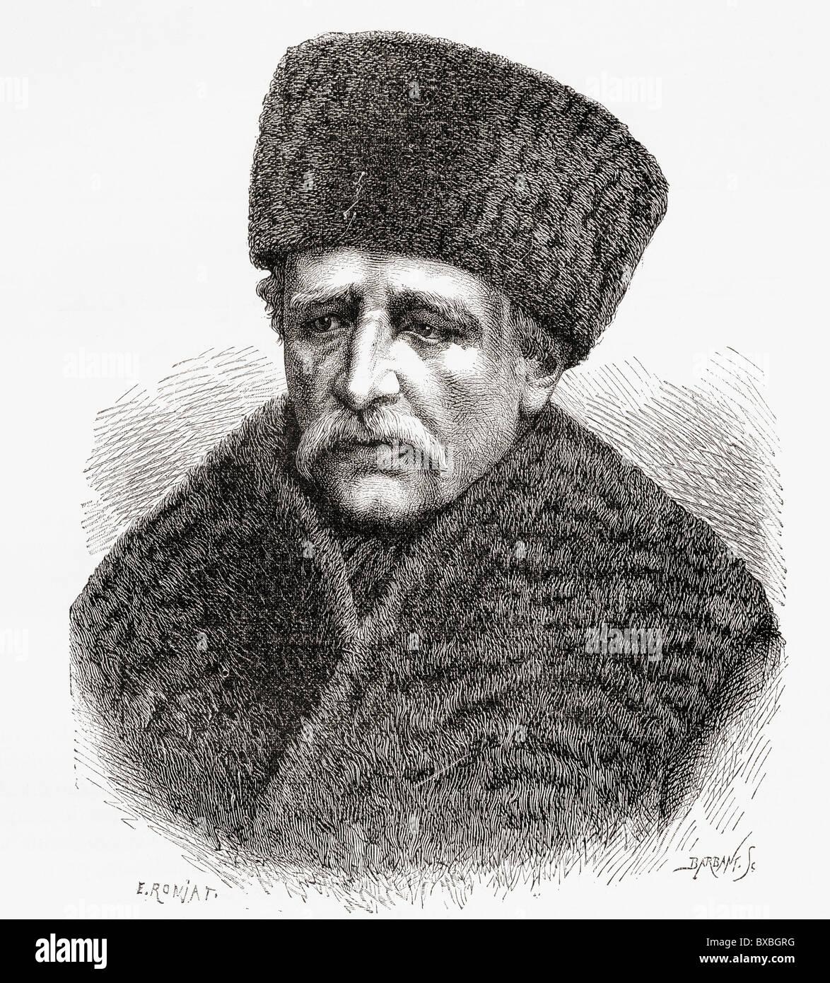 Baron Nils Adolf Erik Nordenskiöld, aka A. E. Nordenskioeld, 1832 to 1901. Baron, geologist, mineralogist and arctic Stock Photo