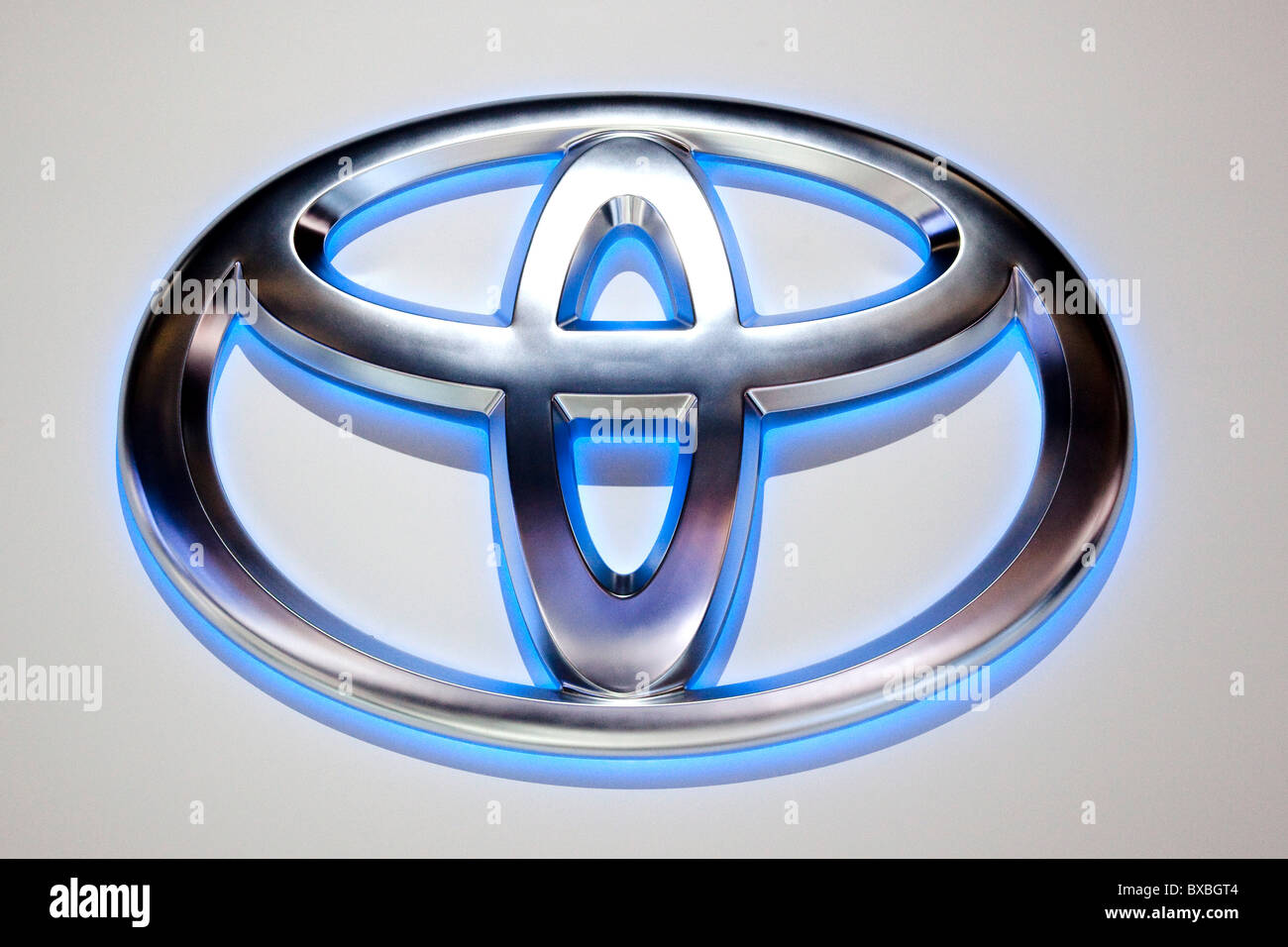 Logo of the Toyota car brand - Stock Image