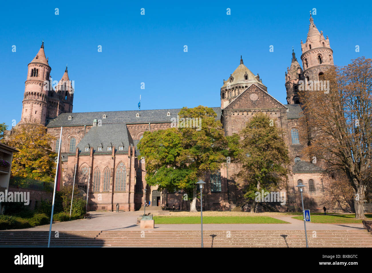 CATHEDRAL ST. PETER, KAISERDOM, DOM, WORMS,  RHINELAND-PALATINATE, GERMANY - Stock Image