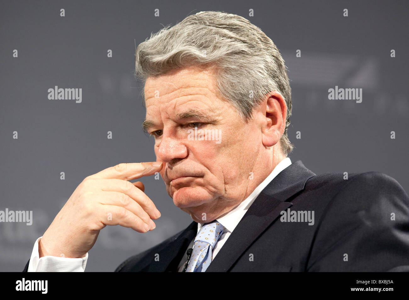Joachim Gauck, evangelical pastor and human rights activist, GDR civil-rights-activist, in Passau, Bavaria, Germany, - Stock Image