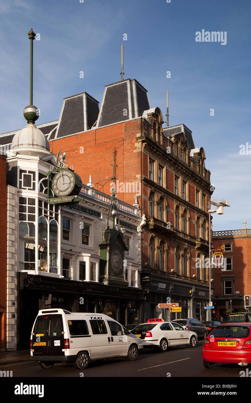 UK, England, Yorkshire, Leeds, Briggate, the time ball building - Stock Image
