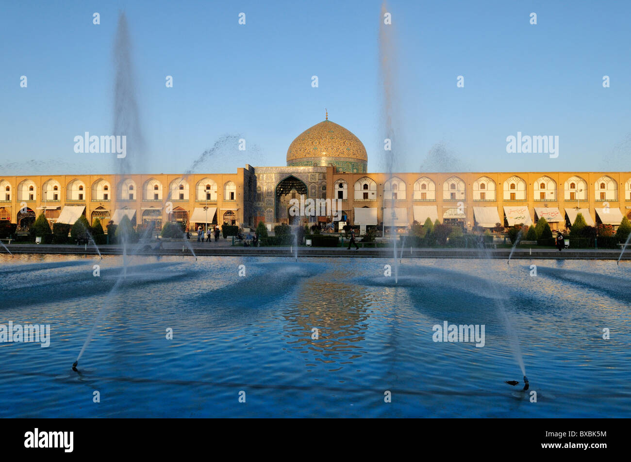 Meidan-e Emam, Naqsh-e Jahan, Imam Square with Sheik Lotfollah, Lotf Allah Mosque, UNESCO World Heritage Site, Isfahan, - Stock Image