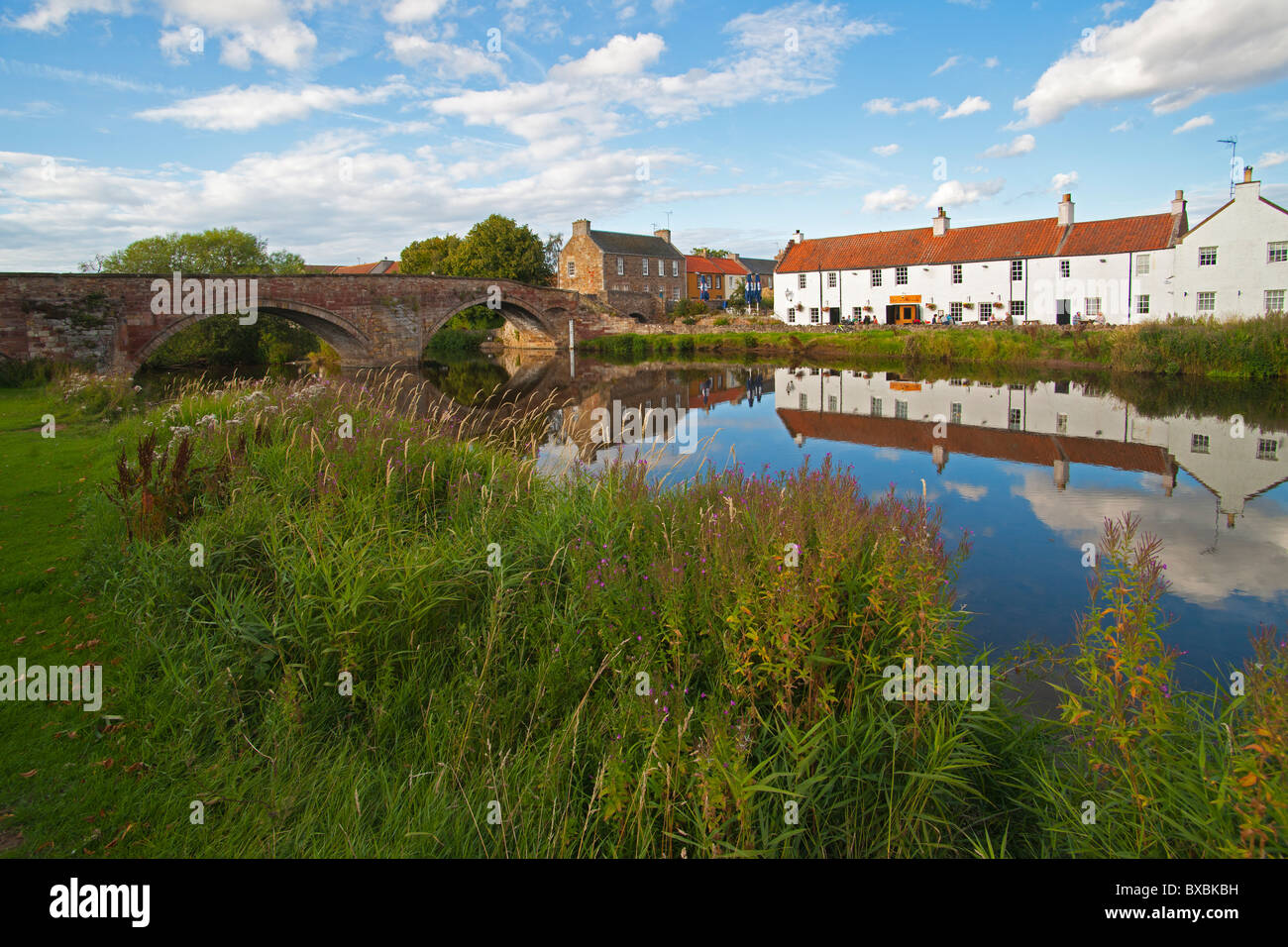 River Tyne, Waterside, Haddington, east Lothian, Scotland, August 2010 - Stock Image