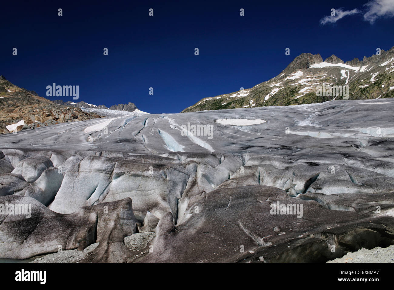 Rhone Glacier, Canton of Valais, Switzerland, Europe - Stock Image