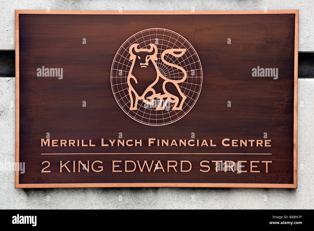 Headquarters of the investment bank and financial service company Merrill Lynch in London, England, United Kingdom, - Stock Image