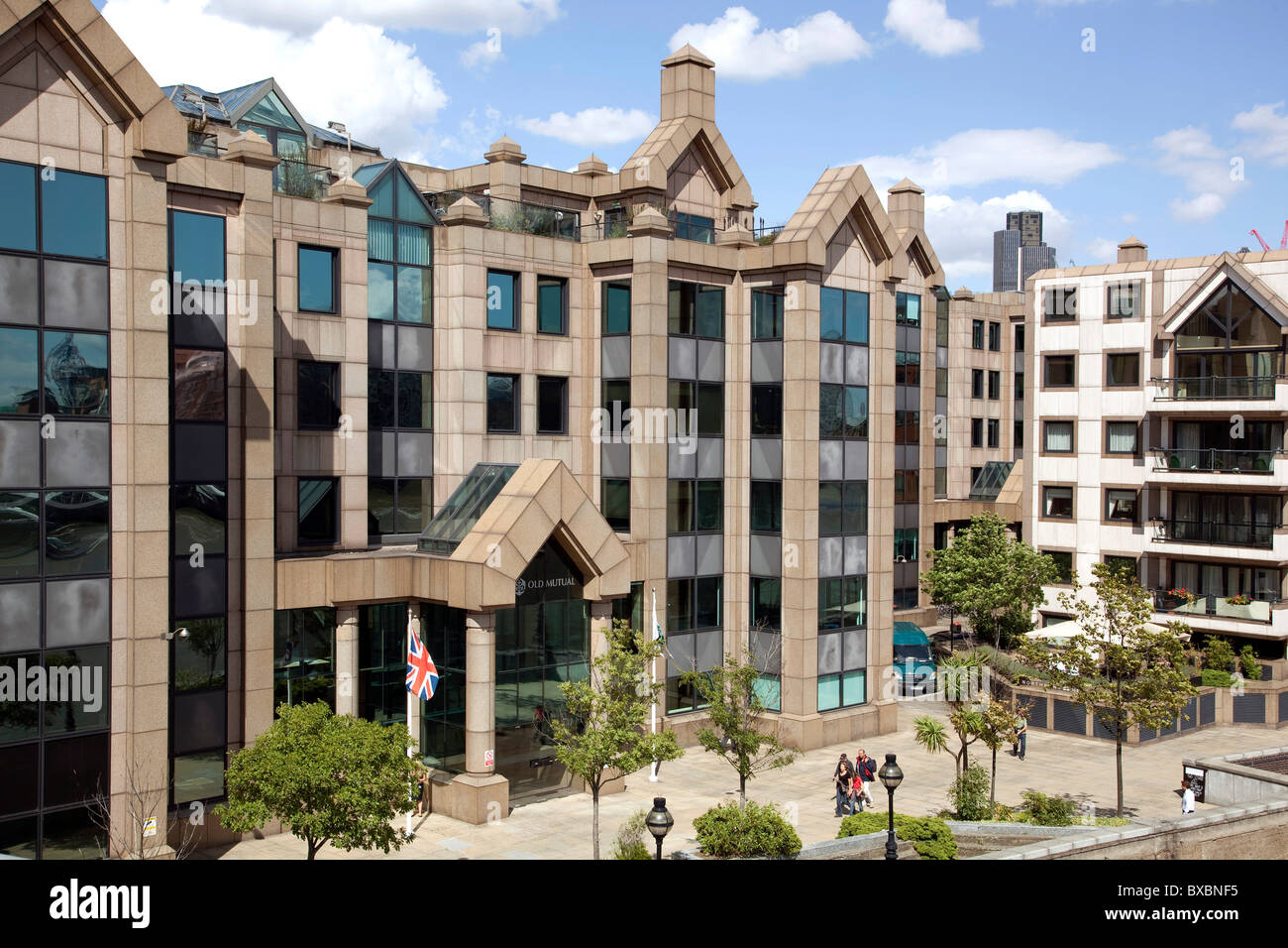 Headquarters of the Old Mutual Insurance in London, England, United Kingdom, Europe - Stock Image