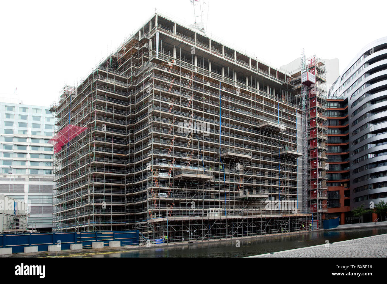 Construction site, house with scaffolding in London, England, United Kingdom, Europe Stock Photo