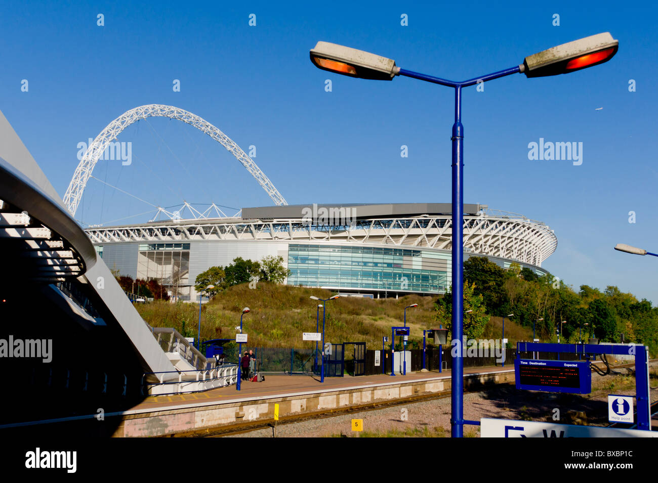 europe, UK, England, London, Wembley Stadium and station 2010 - Stock Image