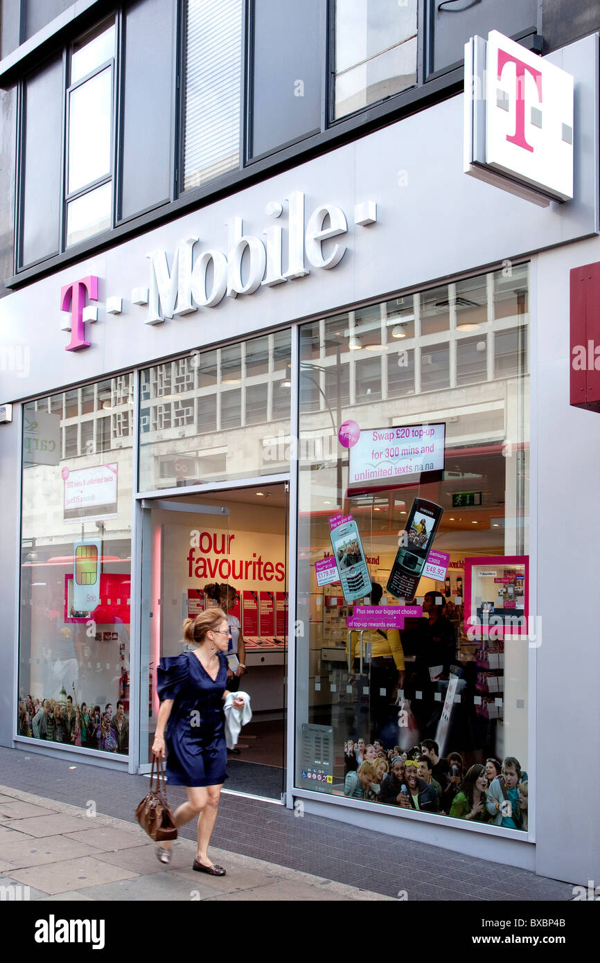 Store Of The Telecommunications Company T Mobile On Oxford Street In London England