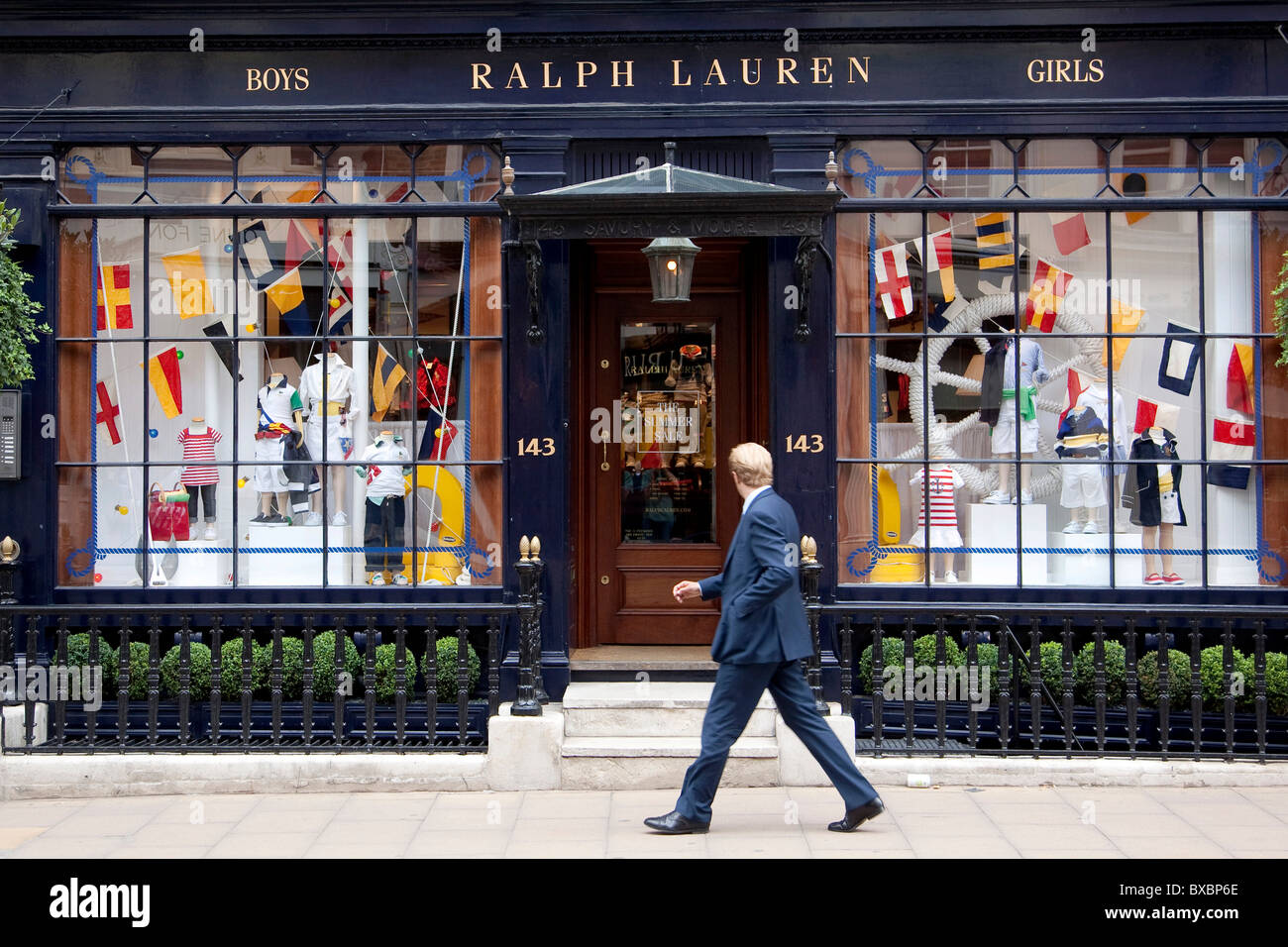 Fashion store for children's clothing, by Ralph Lauren in London, England, United Kingdom, Europe - Stock Image
