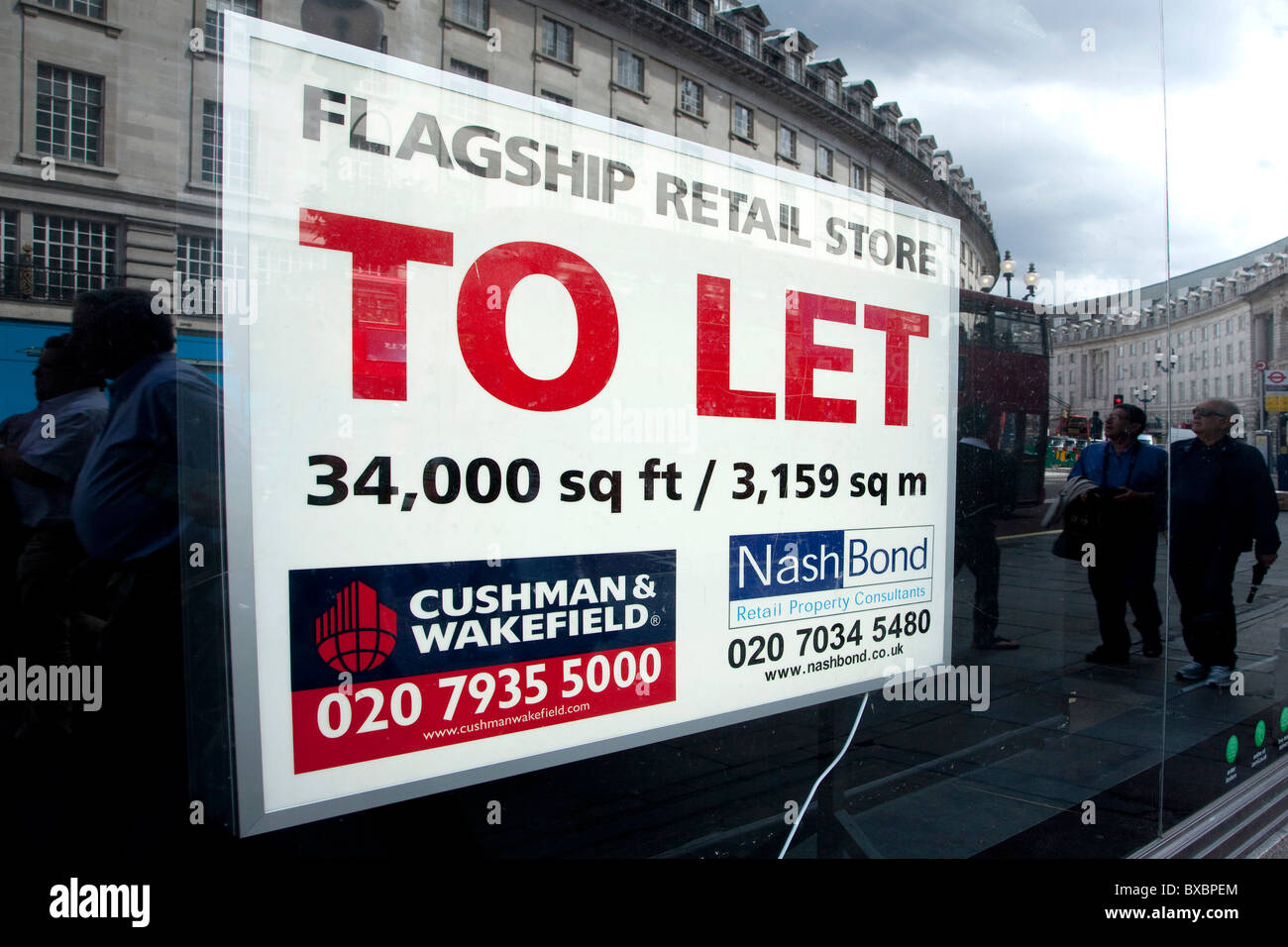 Sign, to let, in the financial district in London, England, United Kingdom, Europe - Stock Image