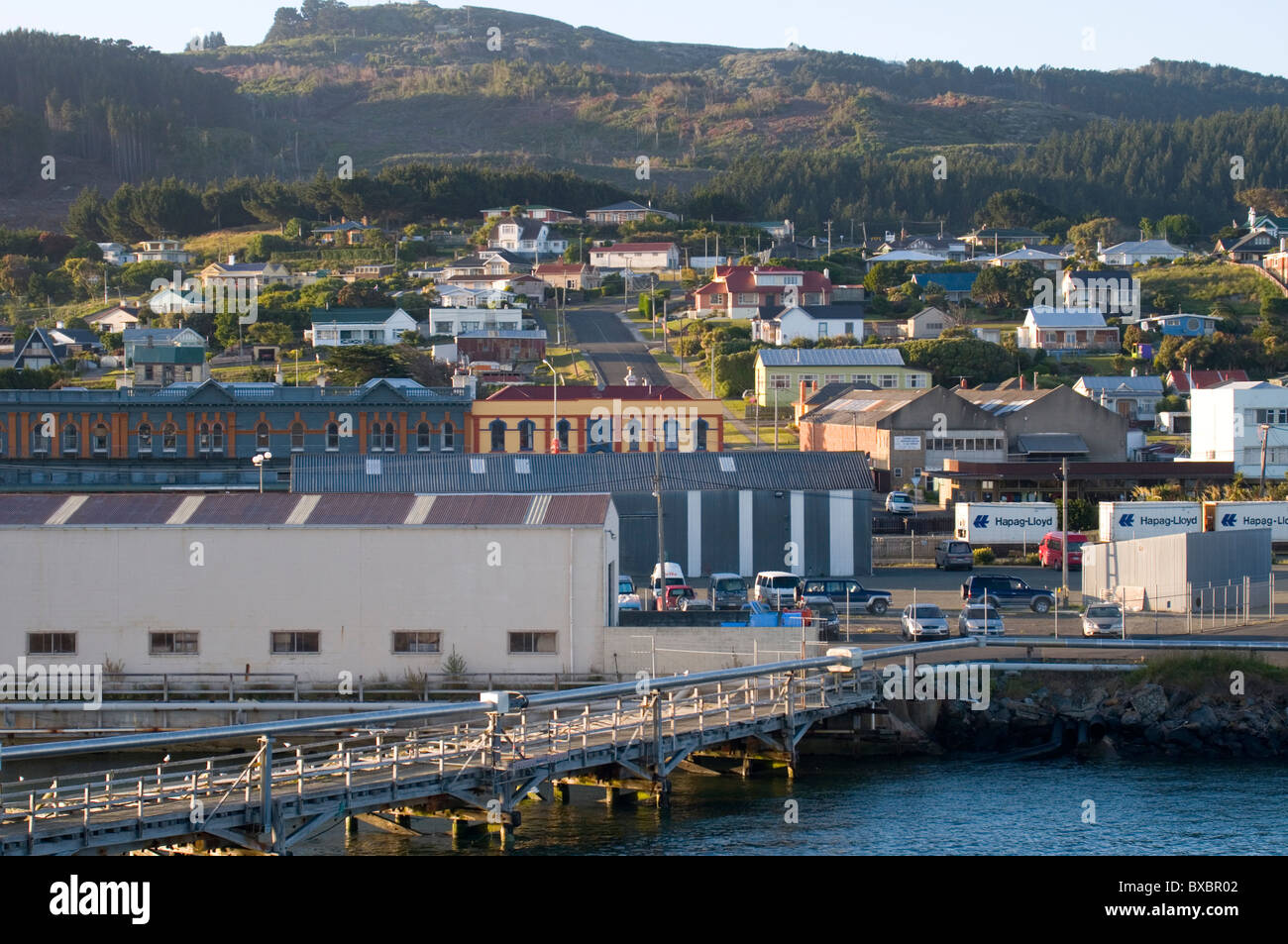 Port of Bluff, Southland, New Zealand - Stock Image