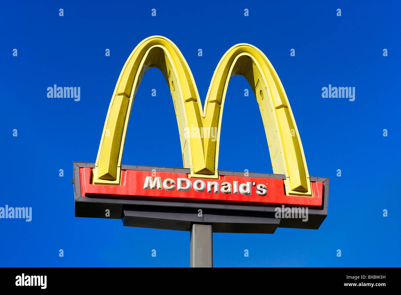 McDonalds sign, Haines City, Central Florida, USA - Stock Image