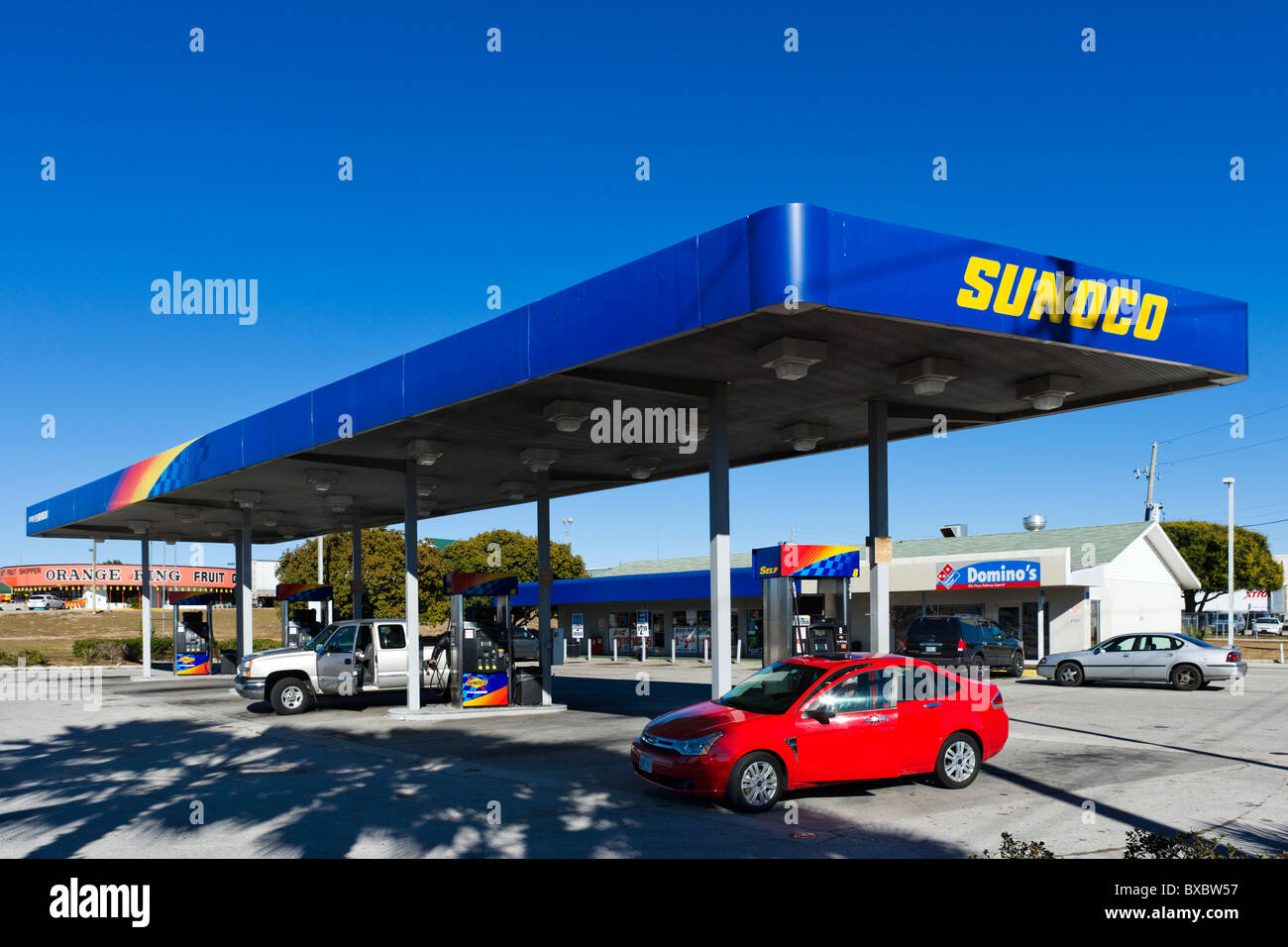 Sunoco gas station, Haines City, Central Florida, USA - Stock Image