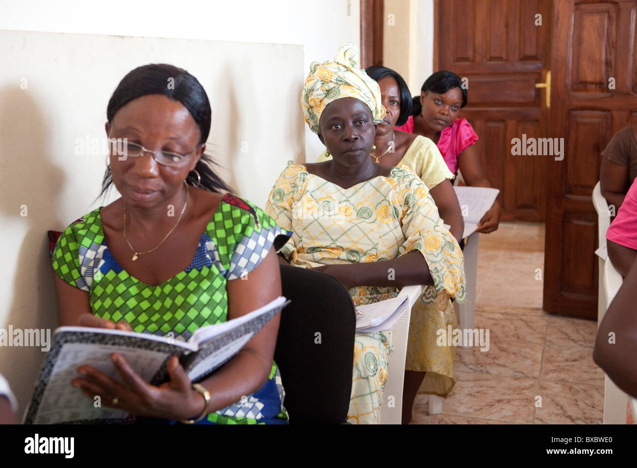 Community Health Volunteers attend a training in Monrovia, Liberia, West Africa. - Stock Image