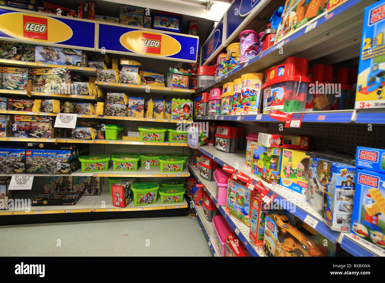 lego and mega blocks for sale in toys r us store in ontario canada stock photo 33453990 alamy. Black Bedroom Furniture Sets. Home Design Ideas