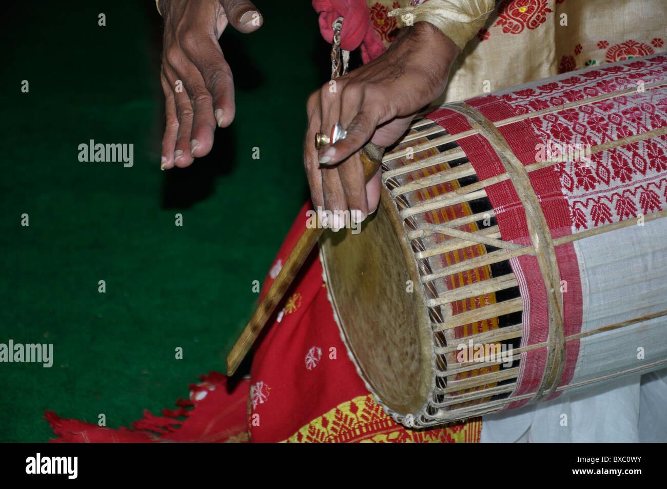 Drum beating - Stock Image