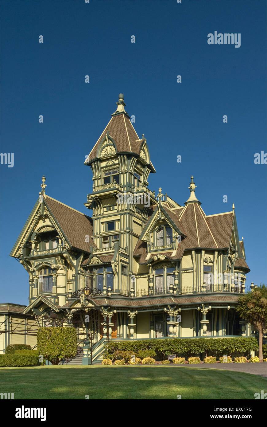 Carson Mansion in Eureka on Redwood Coast, California, USA - Stock Image