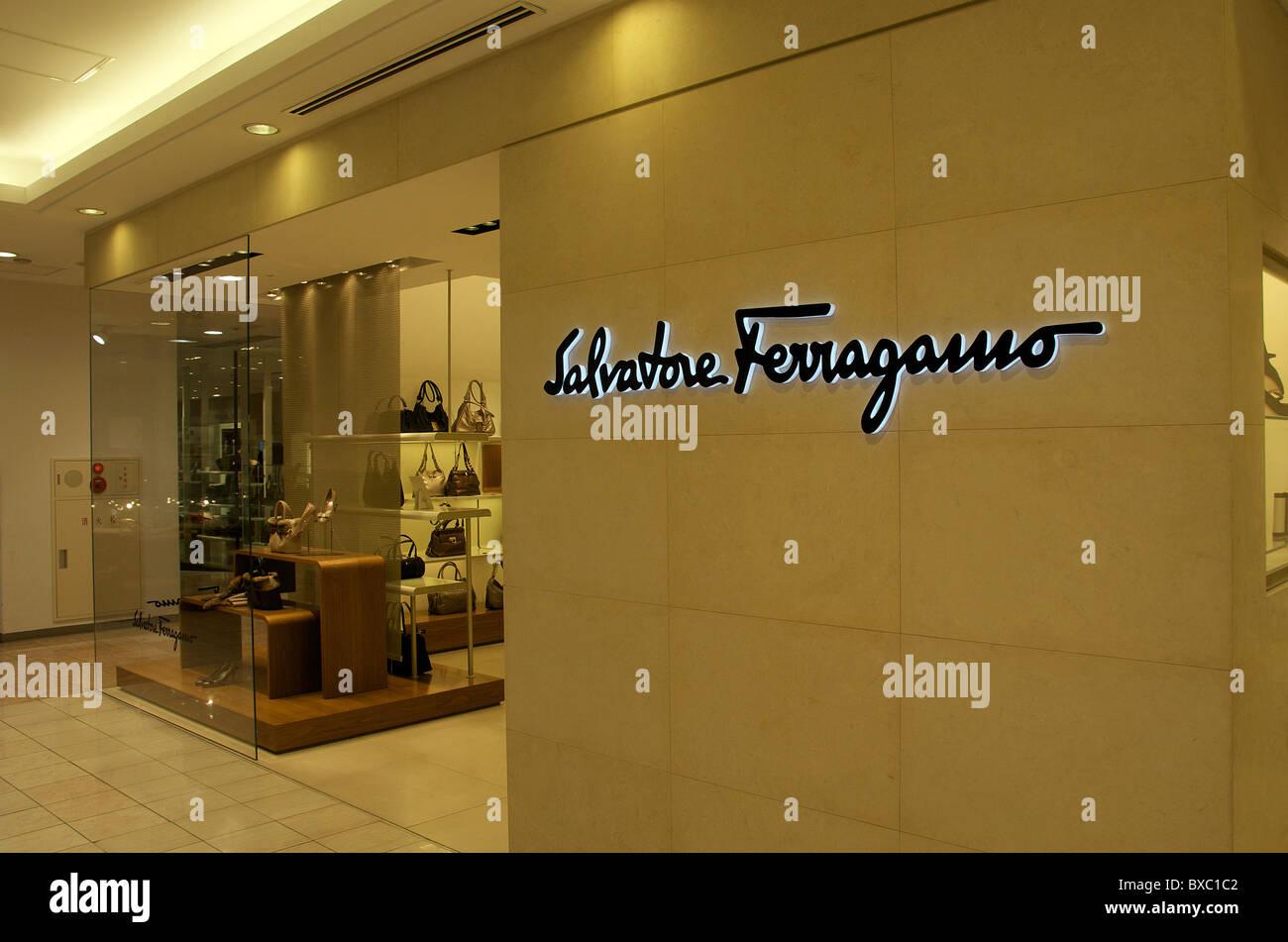 Salvatore Ferragamo store, Shinjuku, Tokyo, Japan - Stock Image