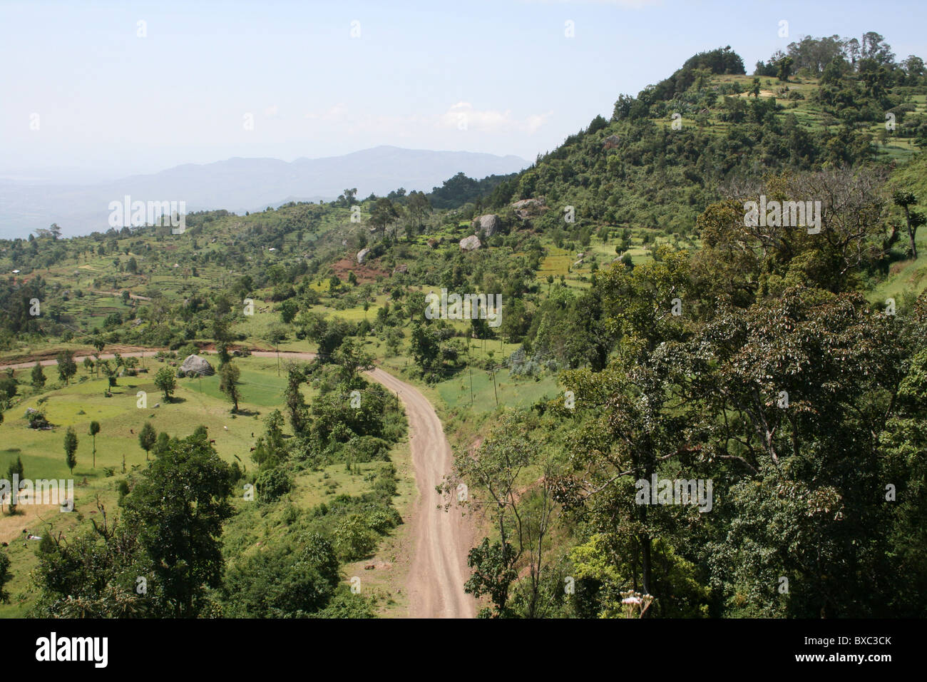 View From The Guge Mountains Above Arba Minch, Ethiopia - Stock Image