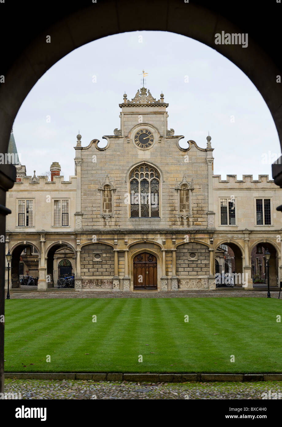 Peterhouse is the oldest and also the smallest college in the university of Cambridge, England. - Stock Image