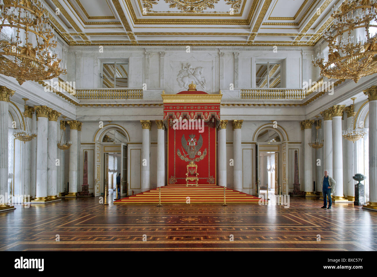 The Hermitage St George Hall St Petersburg Russia - Stock Image