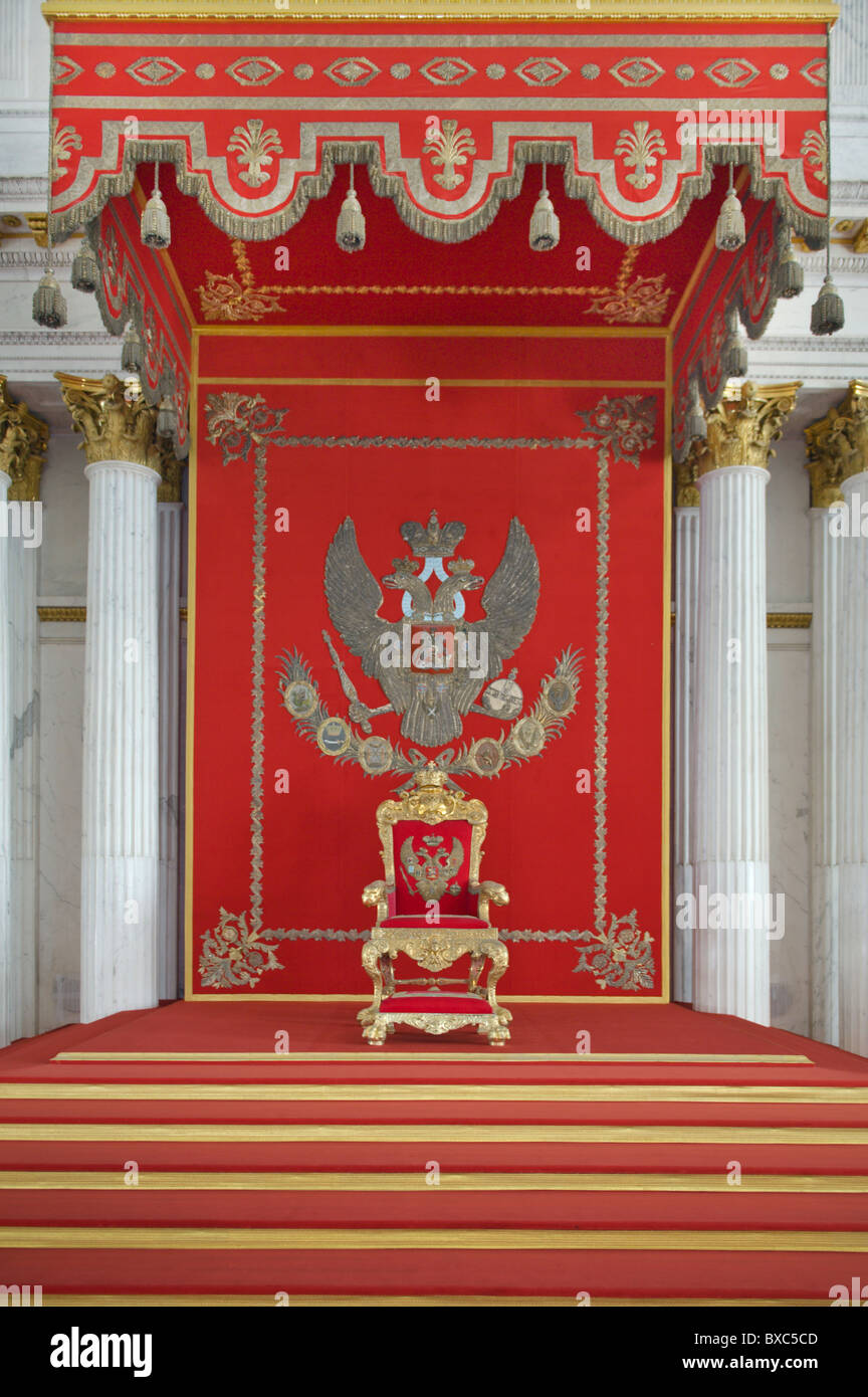 The Hermitage St George Hall St Petersburg Russia Stock Photo