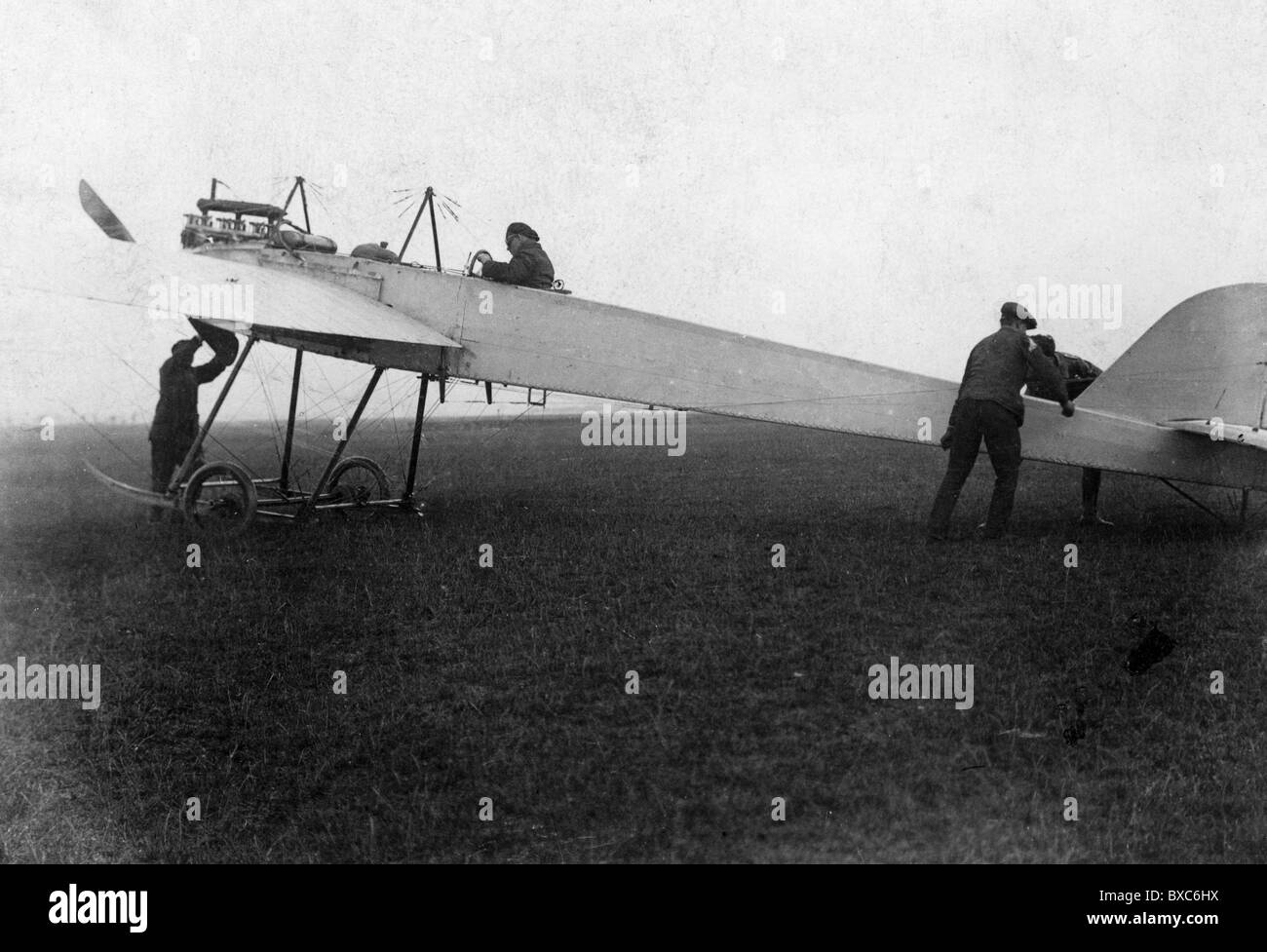 military, Germany, Bavaria, airforce, Royal Bavarian Flying Corps, military aircraft, Oberwiesenfeld, Munich, 1910/1911, - Stock Image