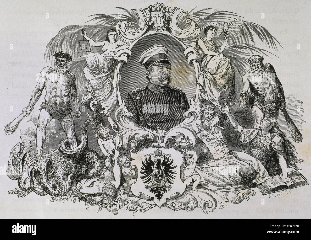 BISMARCK, Otto-Leopold, Prince of (1815-1898). German statesman. - Stock Image