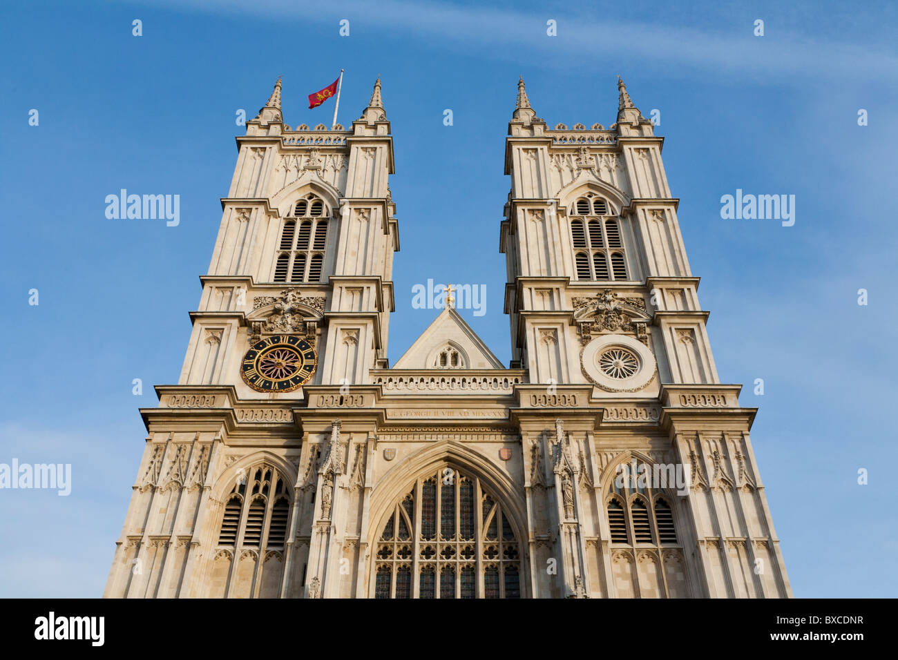 WEST DOOR, WESTMINSTER ABBEY, CORONATION CHURCH, LONDON, ENGLAND, GREAT BRITAIN - Stock Image