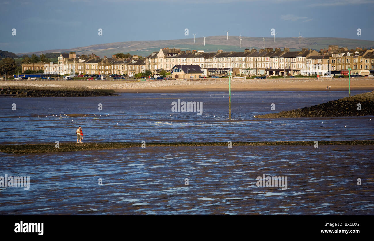 Low Tide In Morecambe Bay Stock Photos and Images