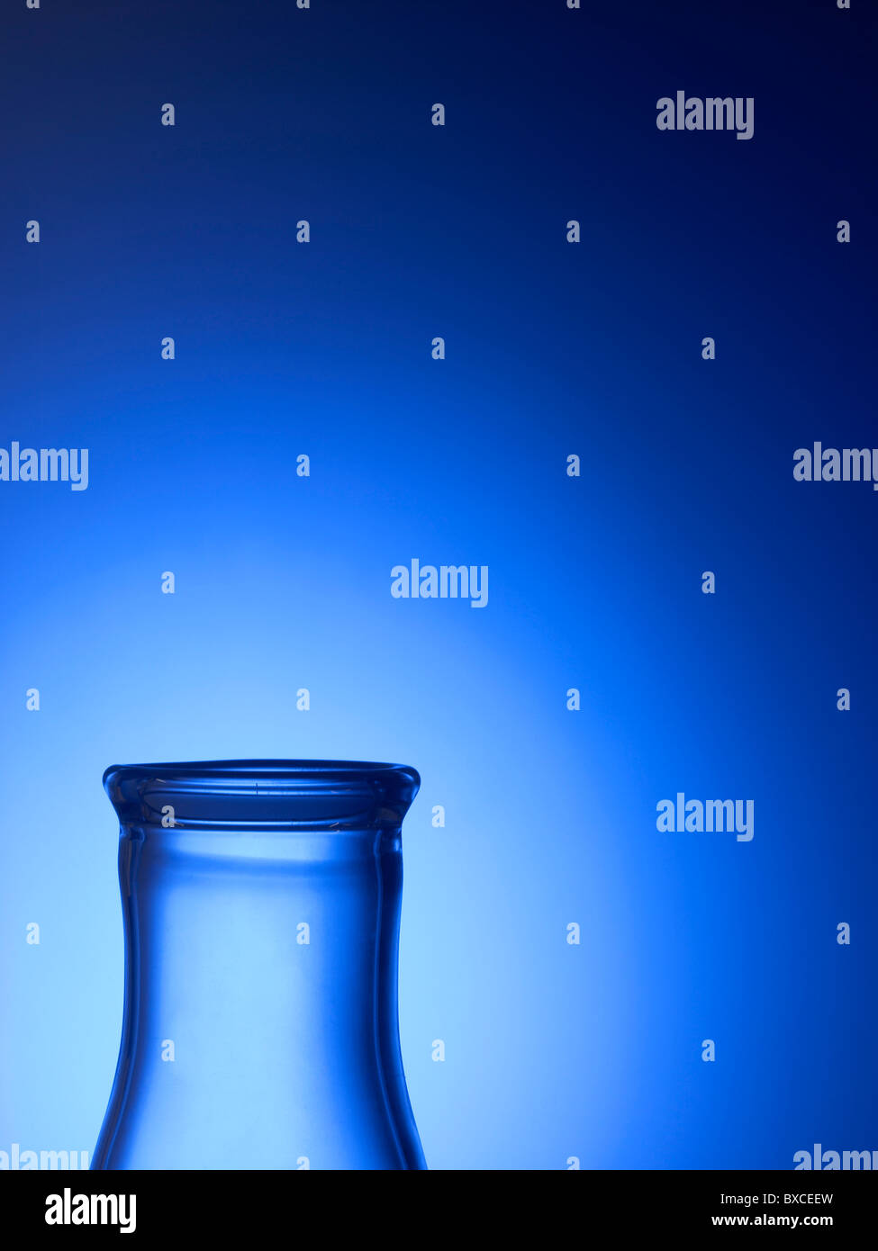 Close Up Detail Of Clear Glass Beaker Vial - Stock Image
