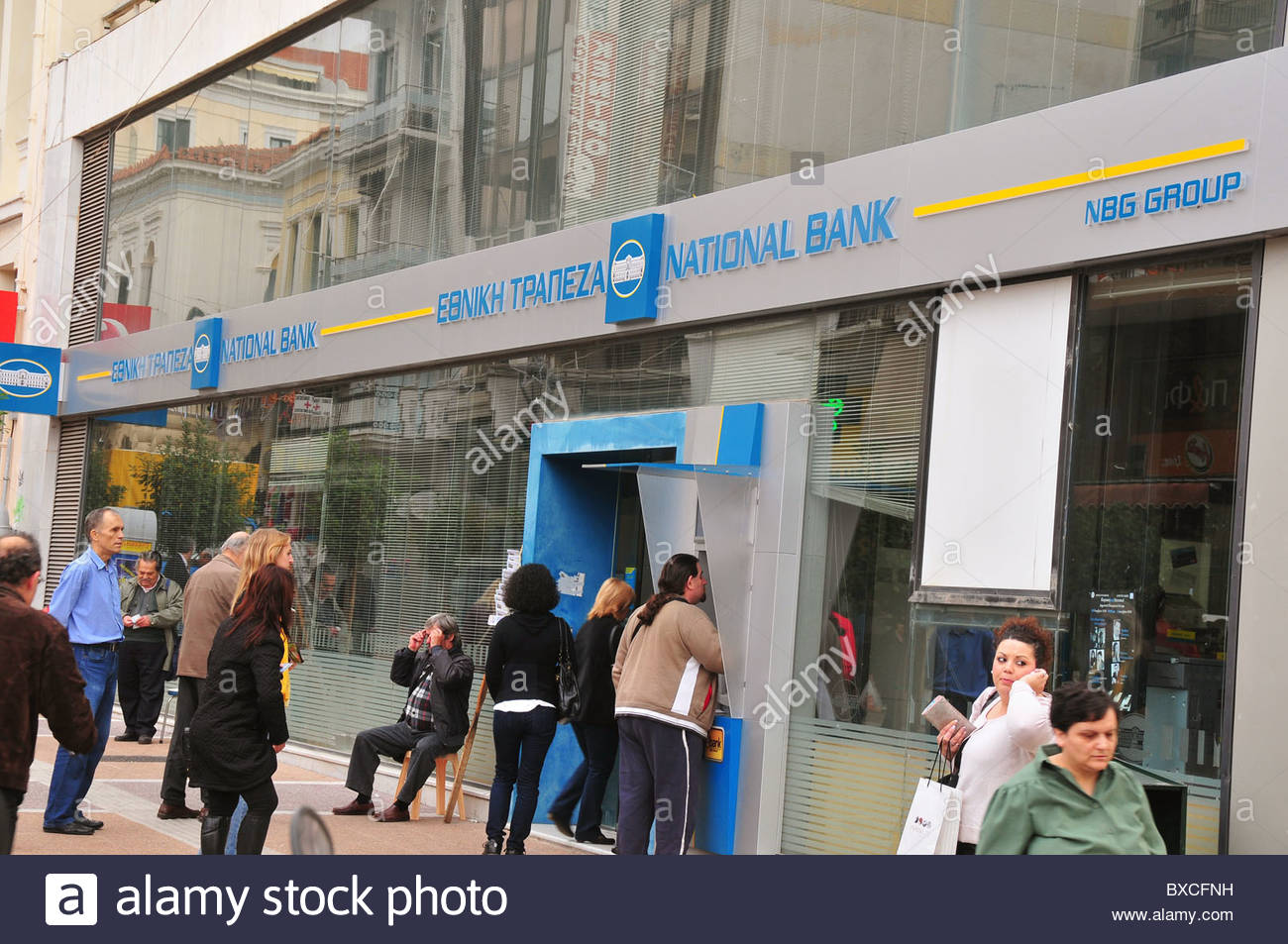 A branch of Greek bank National Bank - Stock Image