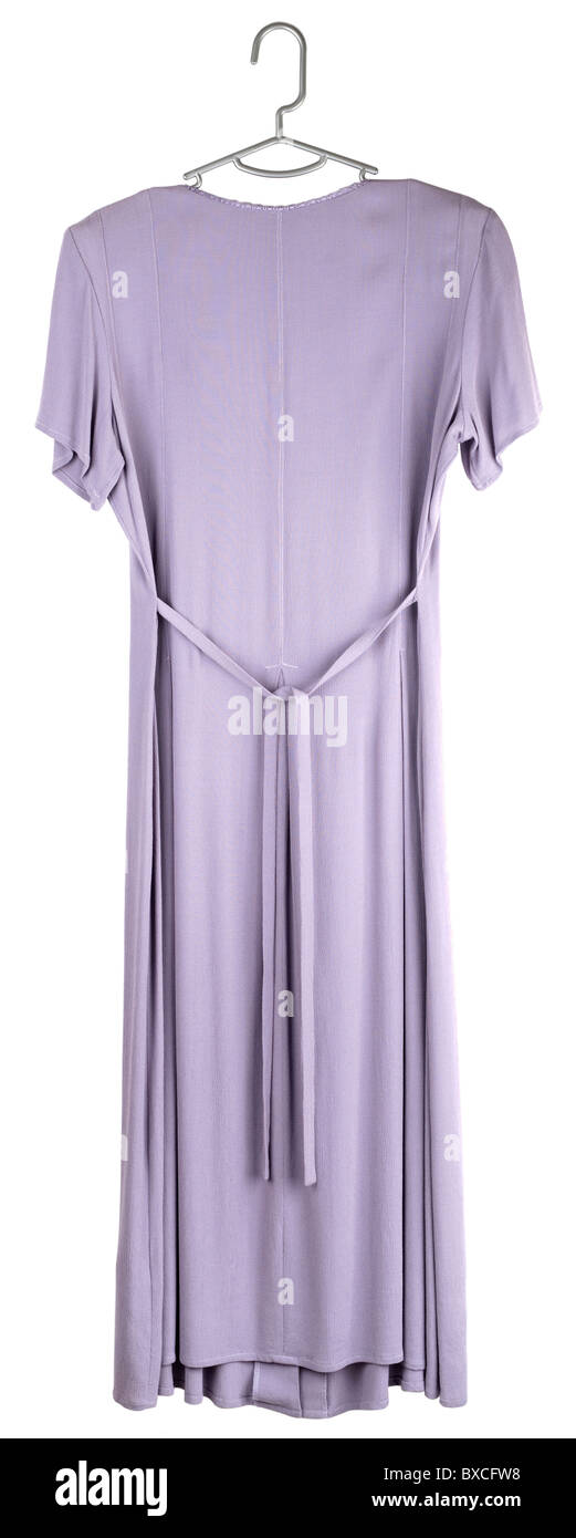 Ladies size 12 mauve fully buttoned pleated dress - Stock Image